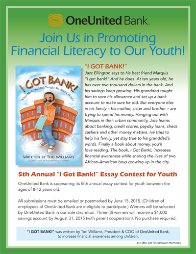 win in one united bank essay contest for kids  i got bank essay flyer 2015 1